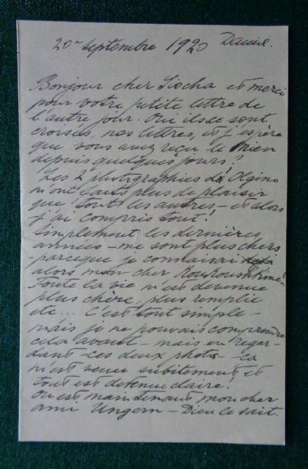 Antique Signed Letter Grand Duchess Olga Romanov Imperial Russian Thormeyer 1920 Denmark